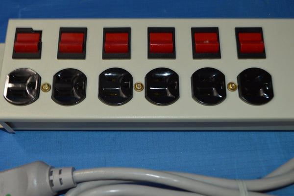 Intermatic Inc. IG9607SP Temporary Power 6 Tab Outlet Strip 15A 125V 60Hz