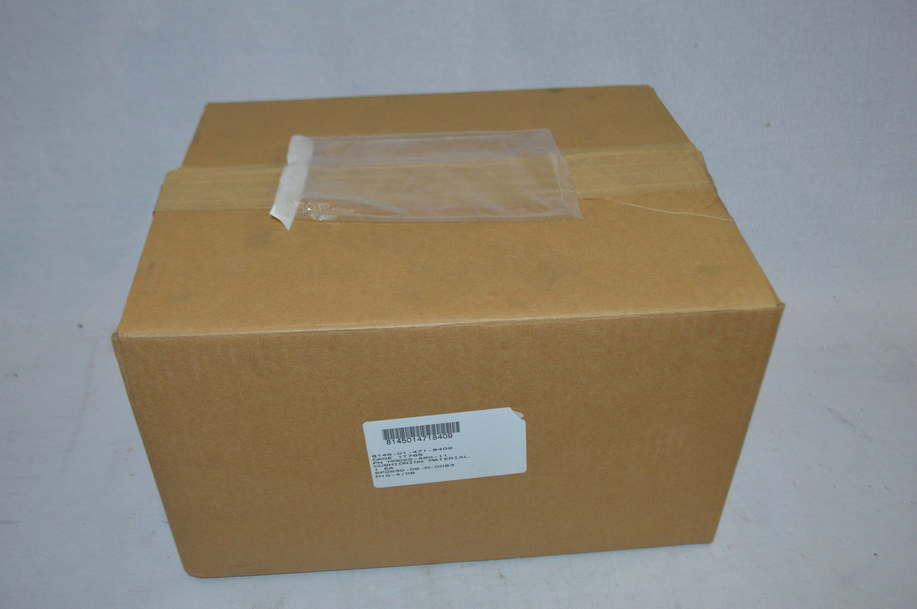 Package cushioning NSN:8145-01-471-8409 P/N:022-460-11