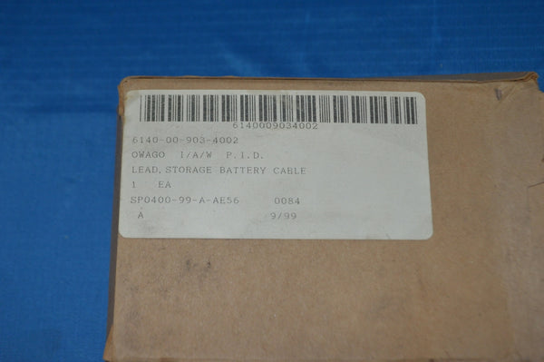 "Mil-Spec 4 Awg, 53"", SAE J1172 Battery Cable W/ Top Post Huge OEM Upgrade NSN: 6150-20-001-9393"