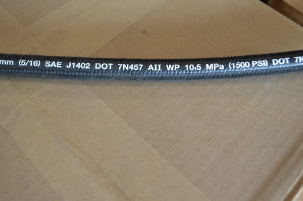 "36"" Parker Air Brake Hose ,5/16"" Braided Cover,1500 PSI,P/N:266-6 P/N:06B-06JA06JA036 NSN: 4720-01-591-0777"