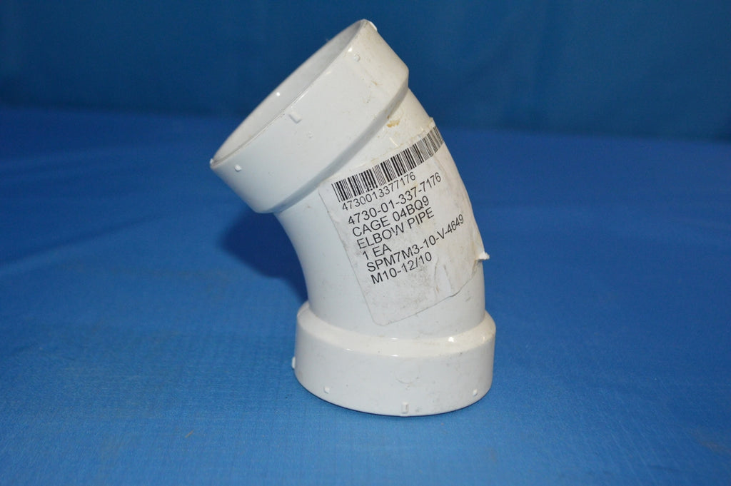 "(10) Charlotte Pipe and Foundry PVC SCH 40 2"" Elbow Pipe w/45 Degree 1/8"" Bend Long Radius Elbow NSN:4730-01-337-7176 P/N:D2665"