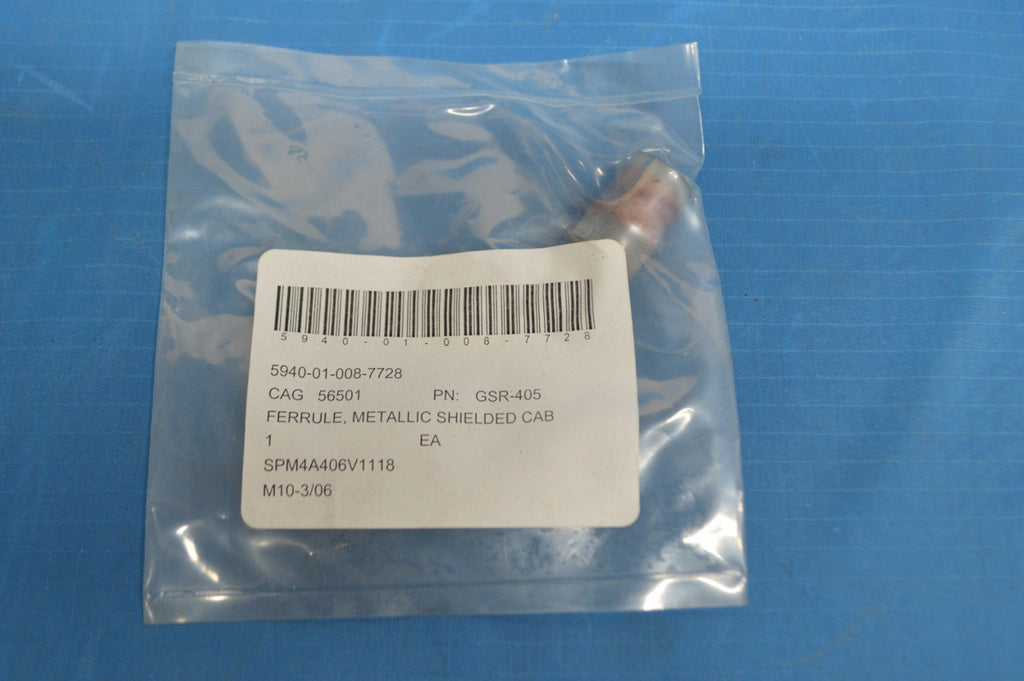 75pc Military Spec Insulated Metallic Shielded Cable Ferrule OD.44 x ID.40 nsn: 5940-01-008-7728