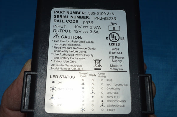 Battery Charger NSN: 6130-01-509-9216 P/N: 250-5100-360 (COMPLETE UNIT)