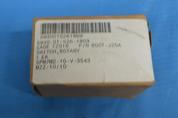 Allen Bradley 800T-J20A Electric Rotary 3 Position W/ Spring Return NSN:5930-01-526-1809