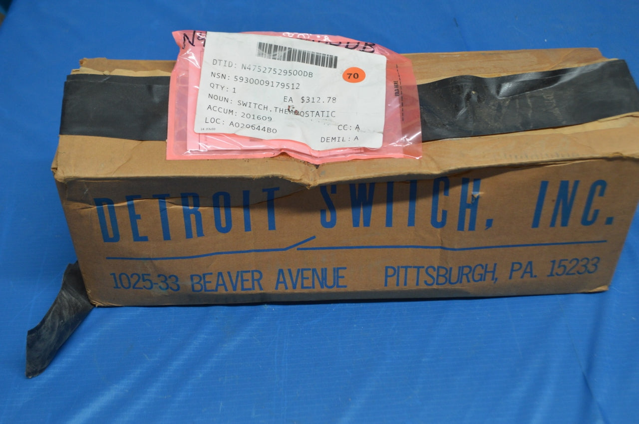 Detroit 222-32NL1 Thermostatic Control Switch NSN:5930-00-259-3362 P/N: 222-32NL1-2222006