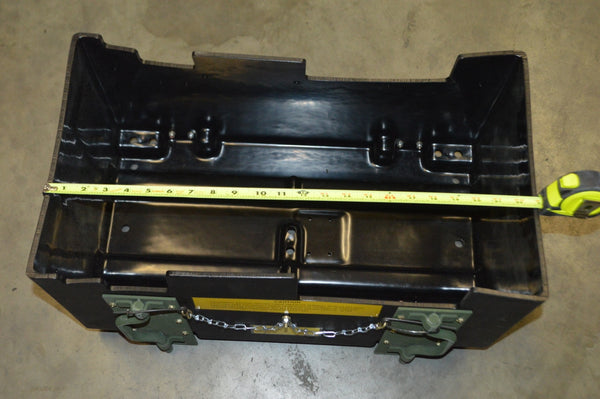 AM General Super Battery Box Under Seat W/Mounting Legs NSN;6160-01-407-2852