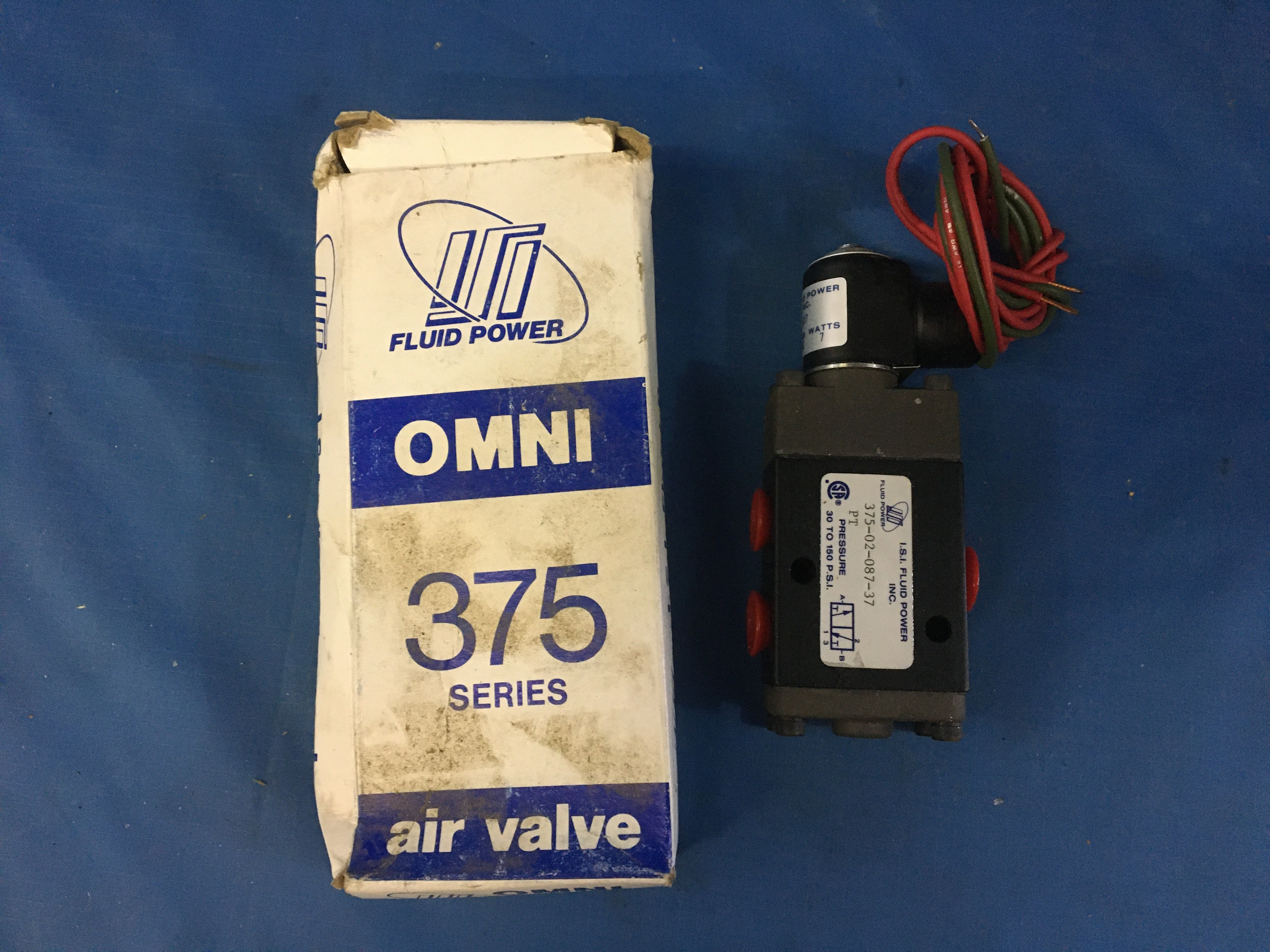 NOS 24V 3/8'' 3 Way 30-150PSI Aluminum Solenoid Air Valve Model:375-02-087-37 NSN:4810-01-287-7801 P/N:3750208137