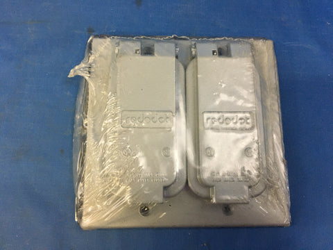 (1) NEW!!! Thomas & Betts GFCI Weatherproof Device Cover 2-Gang - Sealed