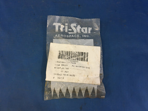 (100) Tri-Star Aerospace BACR15DR3-6 Blind Rivet NSN:5320-00-982-8433