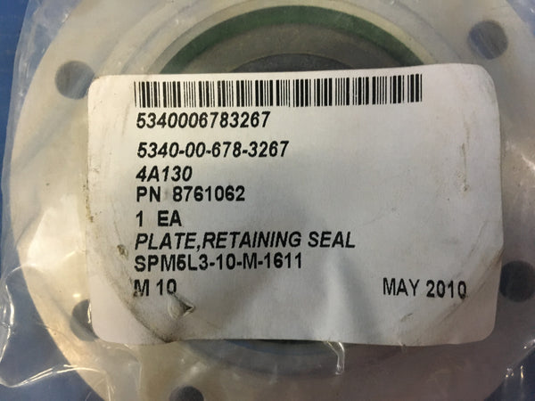 NOS Seal Retaining Plate for m60 NSN:5340-00-678-3267 Model:8761062