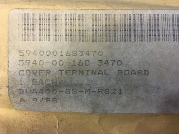 Honeywell International TA15 M07 Terminal Board Cover NSN: 5940-00-168-3470