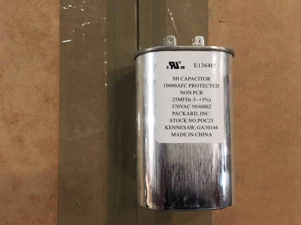DAYTON 2MDW3 OVAL Motor Run Capacitor 25 Microfarad Rating 370VAC Voltage