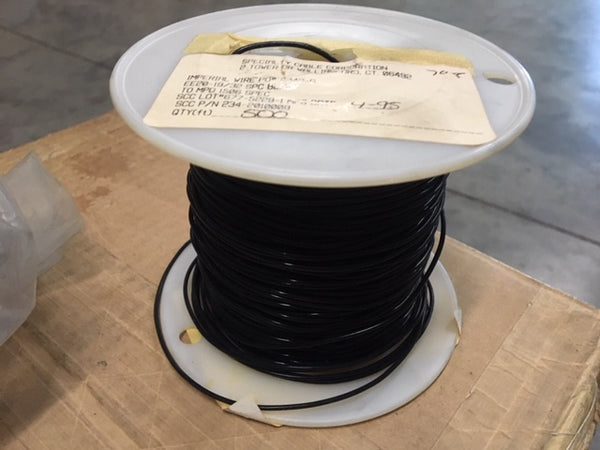 500' Electrical Wire EE20-19/32 Spec Black 20AWG Stranded Silver/Copper NSN:6145-00-729-8969