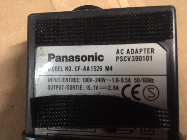 Genuine Original OEM Panasonic CF-AA1526A M4 AC Laptop Adapter - 15.1v 2.6A NSN: 6130DSADAPTE2