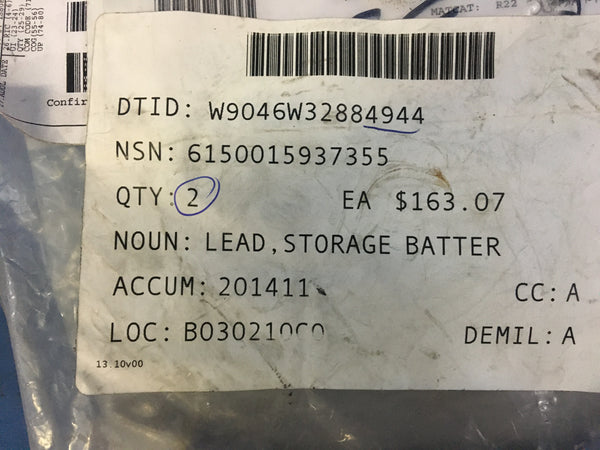 Navistar Defense 3891755C1 Storage Battery Lead NSN:6150-01-593-7355