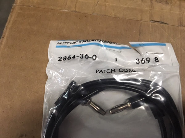 Pomona 2864-36-0 Patch Cord, Black, NSN:6150-01-338-5791