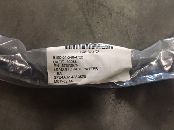 Military Lead Storage Battery Cable P/N:87372575 NSN:6150-01-546-4722