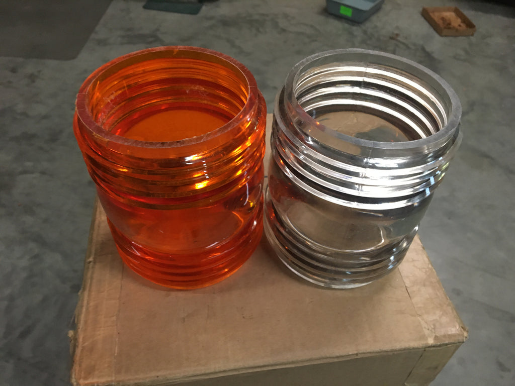 NOS Military Orange Indicator Light Lens