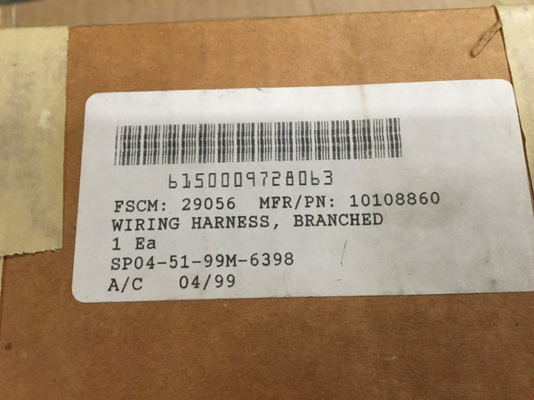 NOS Raytheon Branched Wiring Harness NSN:6150-00-972-8063 Model:10108860
