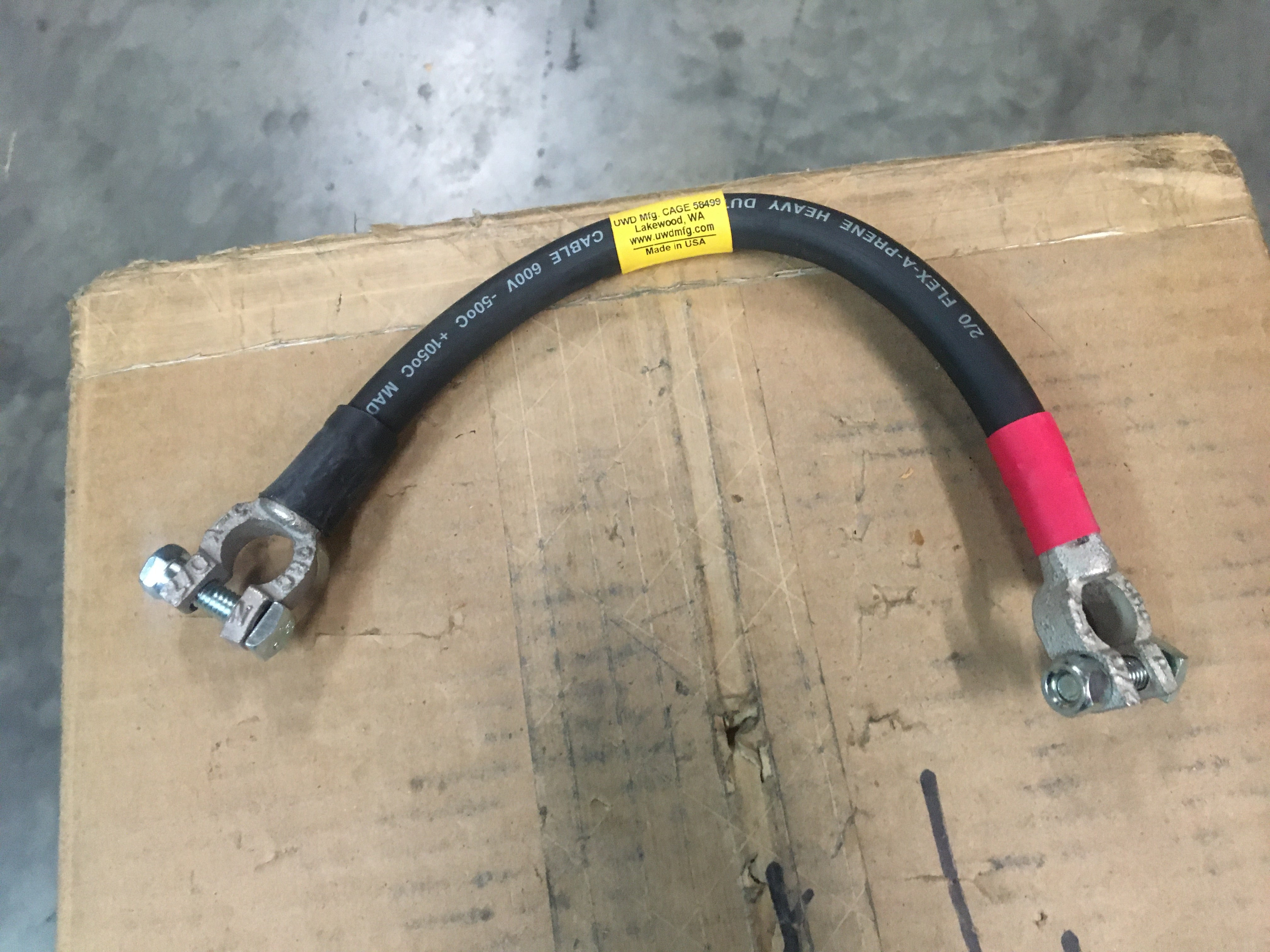 Military Spec 2 AWG Battery Cable NSN: 6150-01-079-5799 Model:69201