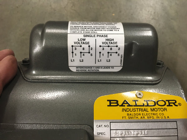Baldor AC Motor,1/6HP115/230V,1725RPM,60HZ,1PH For Use W/Water Purification Unit NSN:6105-01-355-4490 Model:33-1660-918