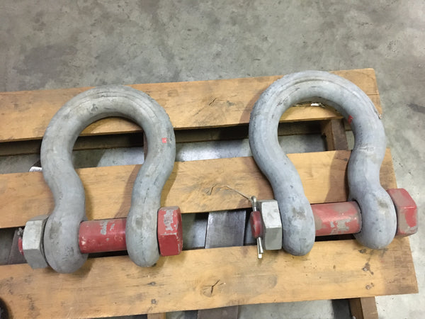 "Crosby Anchor Shackle, Bolt Type, 2-1/2"", 85 Ton, WLL85T"