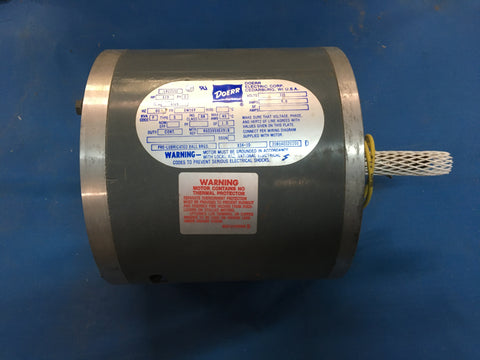 1/3 HP Doerr AC Motor 1PH, 1725RPM, 115V, 60HZ Model:LR22132 NSN:6105-01-247-2252