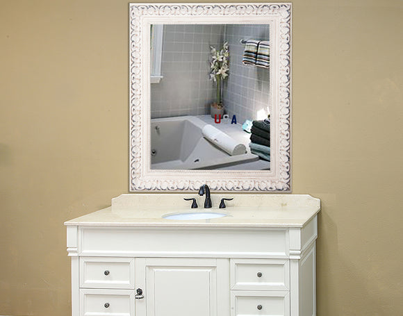 American Made Rayne French Victorian White Square Wall Mirror - S039 ~Suggested Retail~
