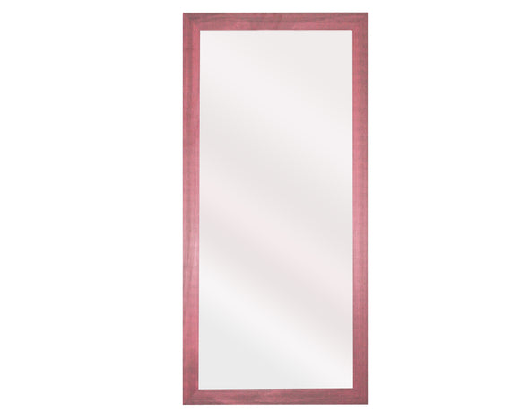 U.S. Made Vintage Pink Tall Mirror Size 30.5x65.5 - V096T ~Suggested Retail~