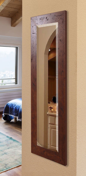 American Made Rayne Rustic Dark Walnut Wall Mirror Size 21x60 - R061TS or V061TS ~Suggested Retail~