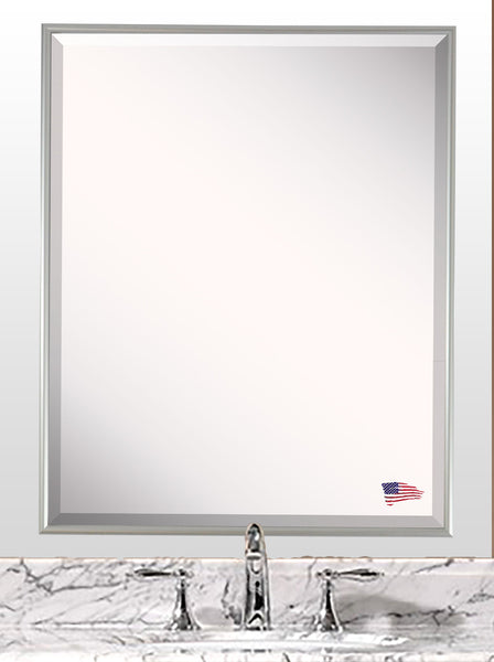 American Made Rayne Charlie Satin Silver Wall Mirror - A003 ~Suggested Retail~
