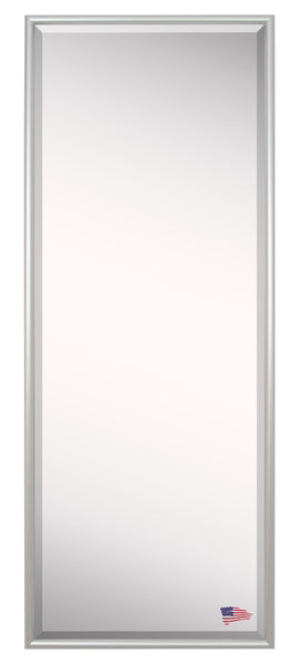 American Made Rayne Foxtrot Satin Silver Floor Mirror Size 25x60 - A006T ~Suggested Retail~