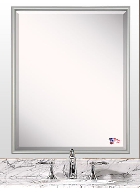 American Made Rayne Foxtrot Satin Silver Mirror - A006 ~Suggested Retail~