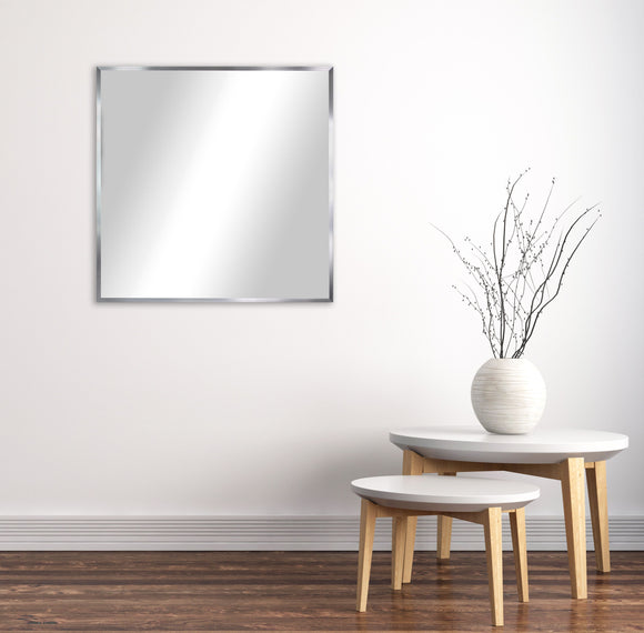 American Made Rayne  Romeo Silver Sheen Square Wall Mirror (AS004) *Suggested Retail*
