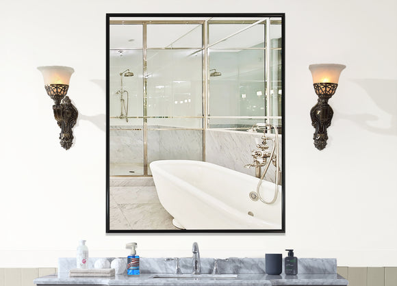 American Made Rayne Alpha Black Wall Mirror (AV001) *Suggested Retail*