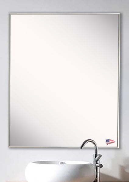 American Made Rayne Echo Polished Silver Vanity/Wall Mirror - AV005 ~Suggested Retail~