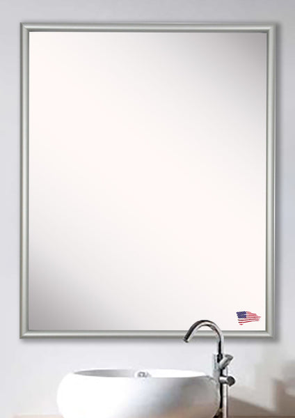 American Made Rayne Foxtrot Satin Silver Wide Vanity/Wall Mirror - AV006 ~Suggested Retail~