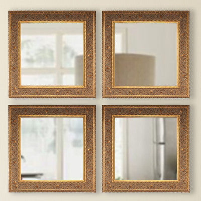 American Made Rayne Opulent Gold Square Wall Mirror Sets - S071S.4 ~Suggested Retail~