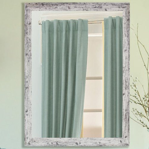 American Made Rayne Weathered White Farmhouse Wall Mirror (V093) *Suggested Retail*