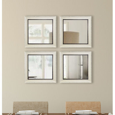American Made Rayne Jaded Ivory Square Wall Mirror Sets - S073S.4 ~Suggested Retail~