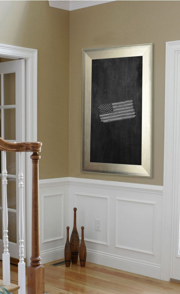American Made Rayne Brushed Silver Blackboard/Chalkboard - B04 ~Suggested Retail~