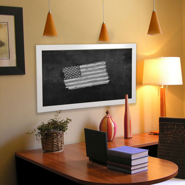 American Made Rayne Glossy White Blackboard/Chalkboard - B21 ~Suggested Retail~