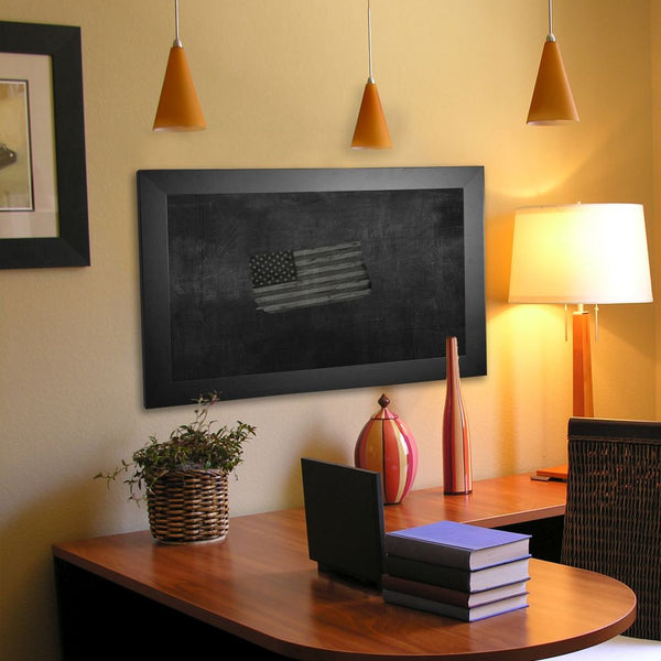 American Made Rayne Black Satin Wide Blackboard/Chalkboard - B35 ~Suggested Retail~