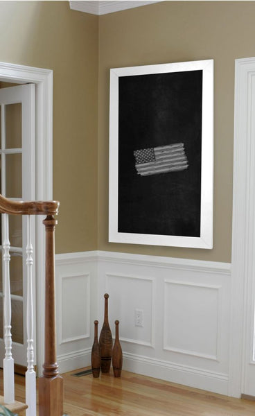 American Made Rayne White Satin Wide Blackboard/Chalkboard - B36 ~Suggested Retail~
