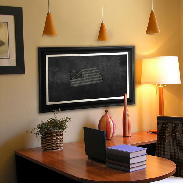 American Made Rayne Grand Black and Aged Silver Blackboard/Chalkboard - B54 ~Suggested Retail~