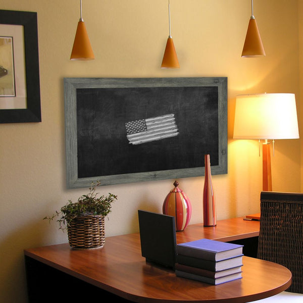 American Made Rayne Grey Barnwood Blackboard/Chalkboard - B64 ~Suggested Retail~