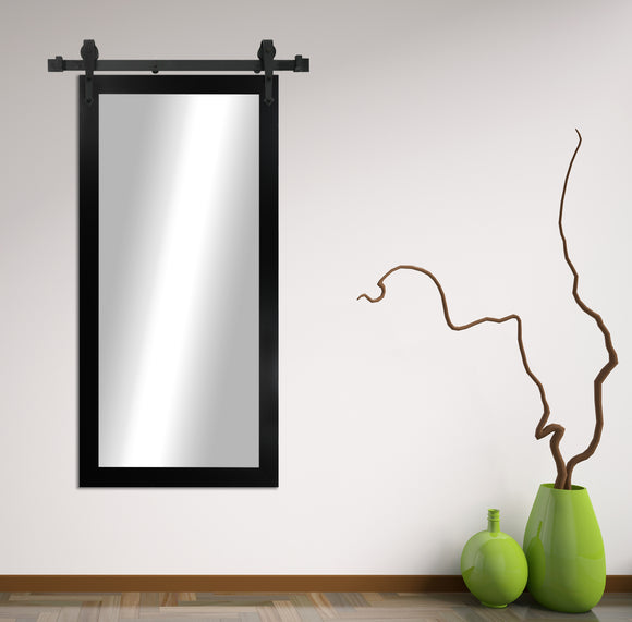 Non-Beveled Wall Mirror with Barn Door Kit (V035T) *Suggested Retail*
