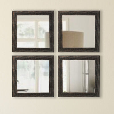 American Made Rayne Brushed Classic Brown Square Wall Mirror Sets - S077S.4 ~Suggested Retail~