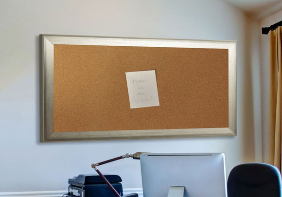 American Made Rayne Brushed Silver Corkboard (C04) *Suggested Retail*