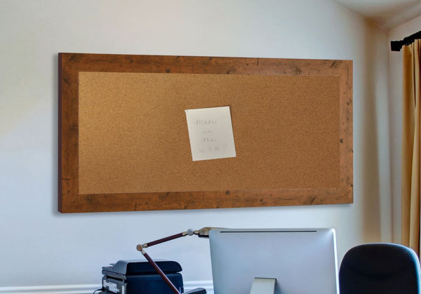American Made Rayne Rustic Light Walnut Corkboard - C62 ~Suggested Retail~